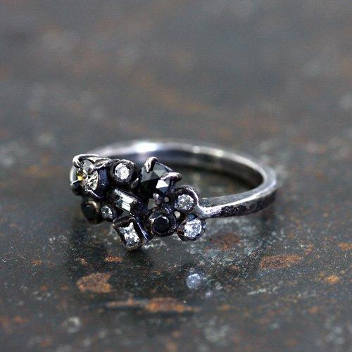 【廃番商品】hirondelle et pepin(イロンデールエペパン) / ar-54 マルチカラーダイヤリング