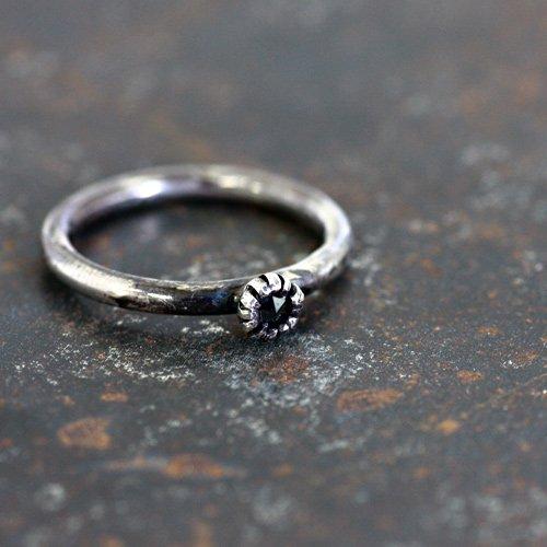 【廃番商品】hirondelle et pepin(イロンデールエペパン) / ar-53 シルバー×ブラックダイヤリング