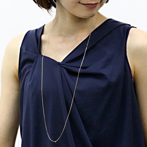 【廃番商品】Perche?(ペルケ) / k18 ゴールド×シルバーロングネックレス