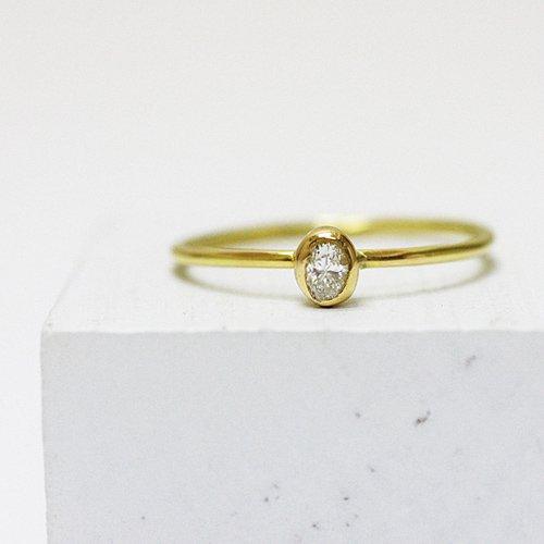 hirondelle et pepin(イロンデールエペパン) / k18 hr-358 オーバルダイヤリング
