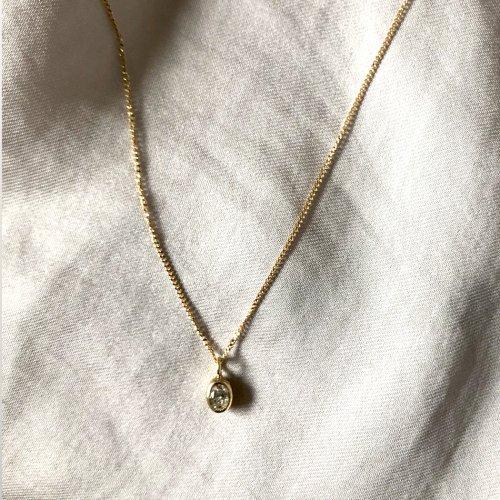 hirondelle et pepin(イロンデールエペパン) / k18 hn-339 オーバルダイヤ ネックレス