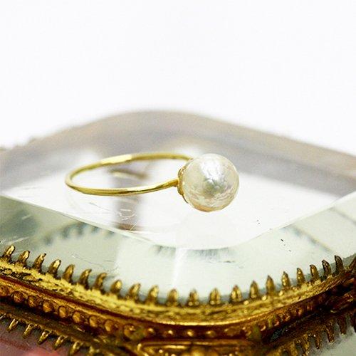 hirondelle et pepin(イロンデールエペパン) / k18 hr-352 華真珠リング
