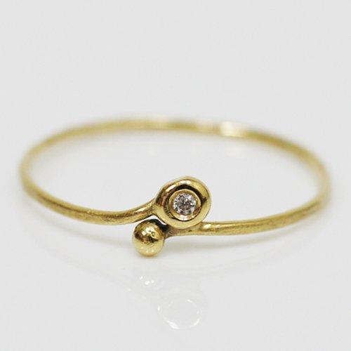 Perche?(ペルケ) / k18 tsubu ダイヤリング