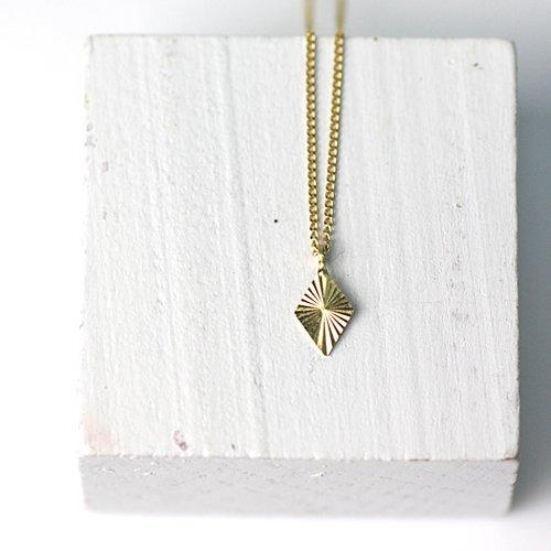 hirondelle et pepin(イロンデールエペパン) / k18 hn-358 ラディエーション ネックレス - ダイヤ