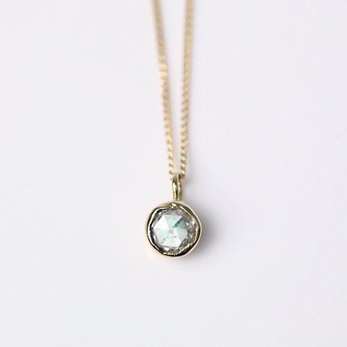hirondelle et pepin(イロンデールエペパン) / k18 hn-351 レイヤーネックレス - エメラルド×ダイヤ