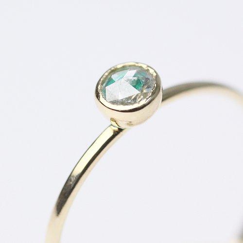hirondelle et pepin(イロンデールエペパン) / k18 hr-378 レイヤーリング - エメラルド×ダイヤ