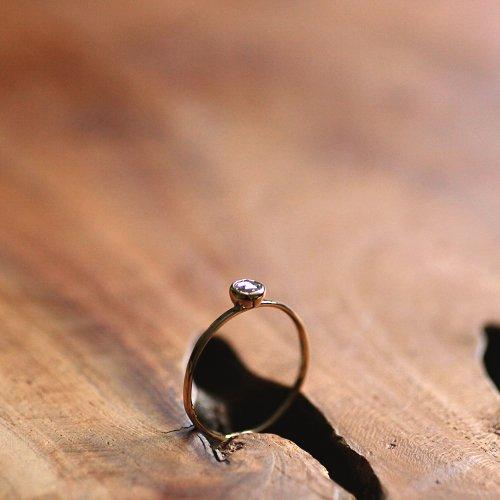 hirondelle et pepin(イロンデールエペパン) / k18 hr-380 レイヤーリング - サファイア×ダイヤ