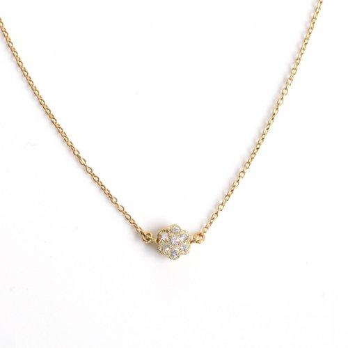 sala(サラ) / k18 フラワーダイヤ ネックレス