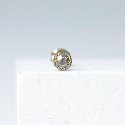 sala(サラ) / k18 ローズカット一粒ダイヤ ピアス (片耳タイプ)