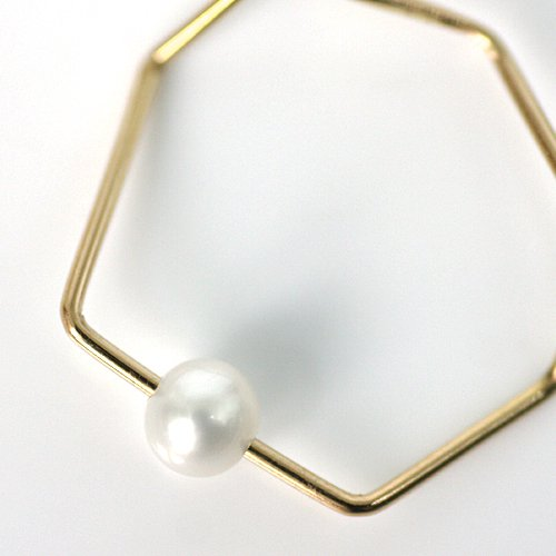 siki(シキ) / K18 七角形とパールのリング ゴールド / SK-R13-K18YG