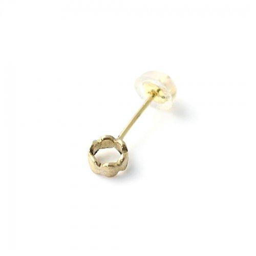 Perche?(ペルケ) / k18 marumaru ring ピアス (片耳タイプ)