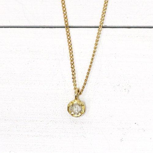 hirondelle et pepin(イロンデールエペパン) / k18 hn-404 4つ爪ローズカット ダイヤ ネックレス