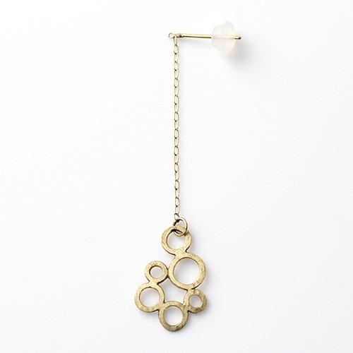 Perche?(ペルケ) / k18 bubble chain ピアス 1 (片耳タイプ)