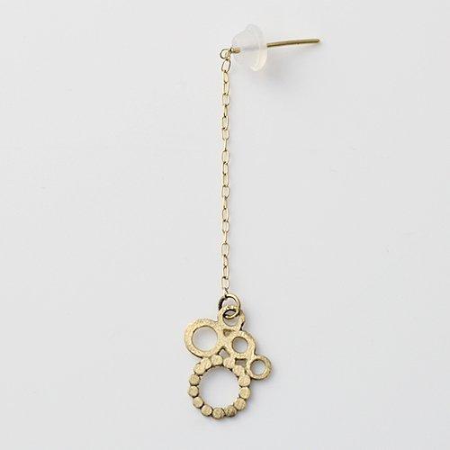 Perche?(ペルケ) / k18 bubble chain ピアス 3 (片耳タイプ)