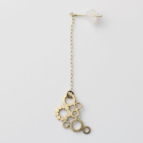 Perche?(ペルケ) / k18 bubble chain ピアス 4 (片耳タイプ)