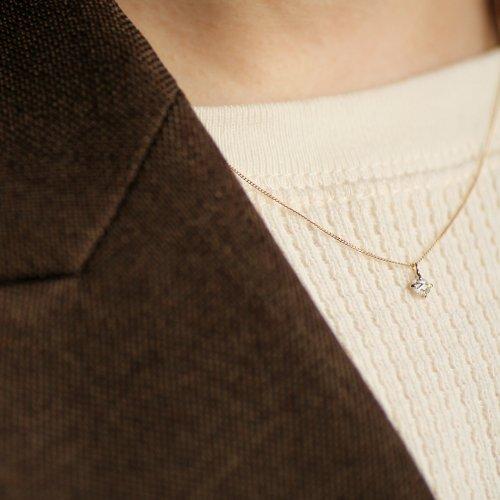hirondelle et pepin(イロンデールエペパン) / k18 hn-416 ローズカット ダイヤ ネックレス