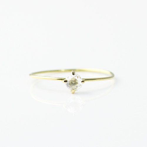 hirondelle et pepin(イロンデールエペパン) / k18 hr-411 ローズカット ダイヤ リング