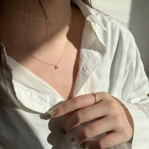 hirondelle et pepin(イロンデールエペパン) / k18 hn-425 ローズカット ダイヤ ふくりん ネックレス