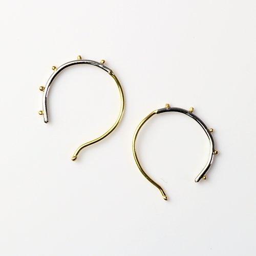 hirondelle et pepin(イロンデールエペパン) / k18 pp-29 ドット フープ ピアス コンビ(両耳タイプ)