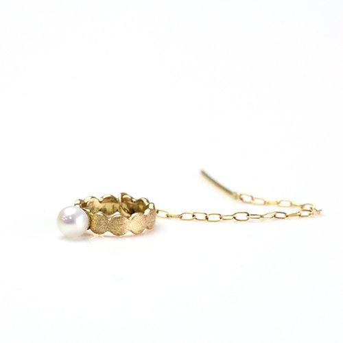 Perche?(ペルケ) / k18 marumaru pearl chain ピアス 1 (片耳タイプ)