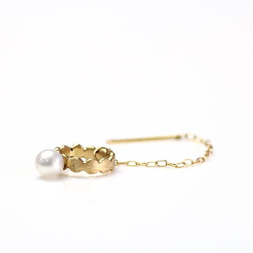 Perche?(ペルケ) / k18 marumaru pearl chain ピアス 2 (片耳タイプ)
