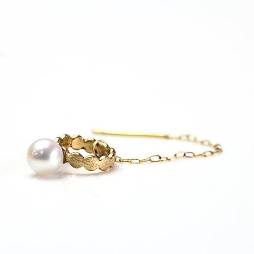 Perche?(ペルケ) / k18 marumaru pearl chain ピアス 3 (片耳タイプ)