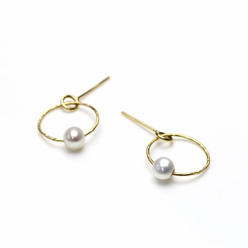 Perché? k18 circle パール ピアス 【sold out】