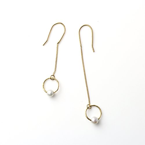 Perché? k18 circle パール チェーン ピアス 【sold out】