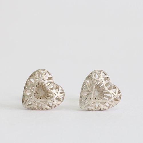 yum. (ヤム) / silver JEM cut heart ハートダイヤカット シルバー ピアス / P-01a-Ag925