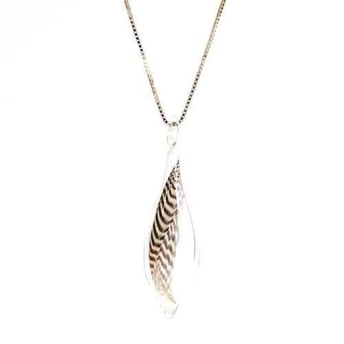 moca.arpeggio(モカ アルペジオ) / GFN-11 Feather フェザー グラス ロングネックレス S - ブラウン