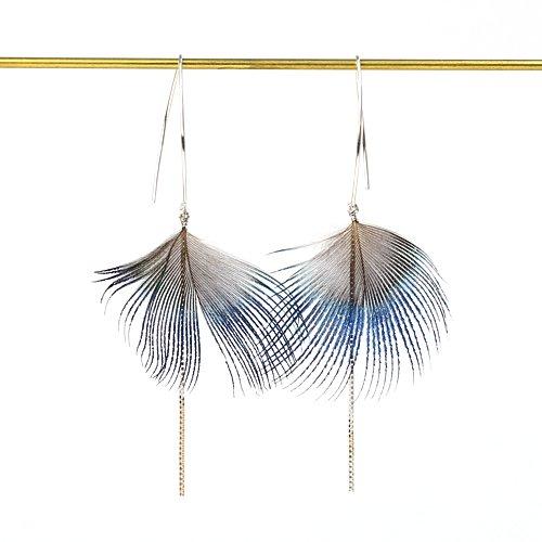 moca.arpeggio(モカ アルペジオ) / FP-1 Feather  フェザー ピアス - ブルー