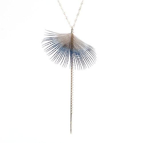 moca.arpeggio(モカ アルペジオ) / FN-1 Feather フェザー ネックレス - ブルー