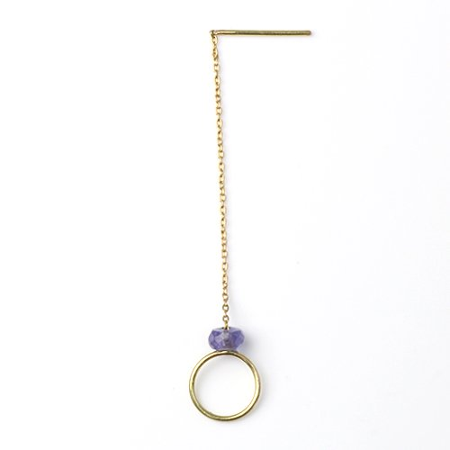 MINIMUMNUTS(ミニマムナッツ) / k18 tiny ring ピアス - タンザナイト (片耳タイプ)