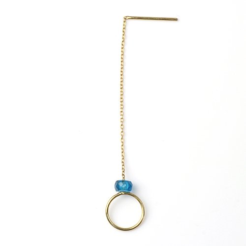 MINIMUMNUTS(ミニマムナッツ) / k18 tiny ring ピアス - アパタイト (片耳タイプ)