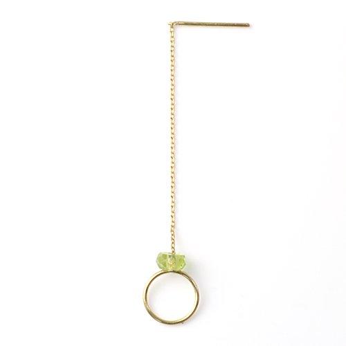 MINIMUMNUTS(ミニマムナッツ) / k18 tiny ring ピアス - ペリドット (片耳タイプ)
