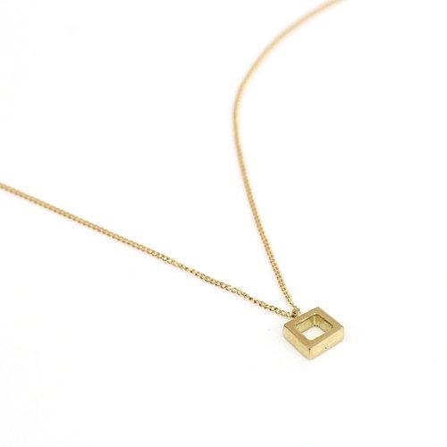 Ense(アンサ) / k18 四角ネックレス kna03