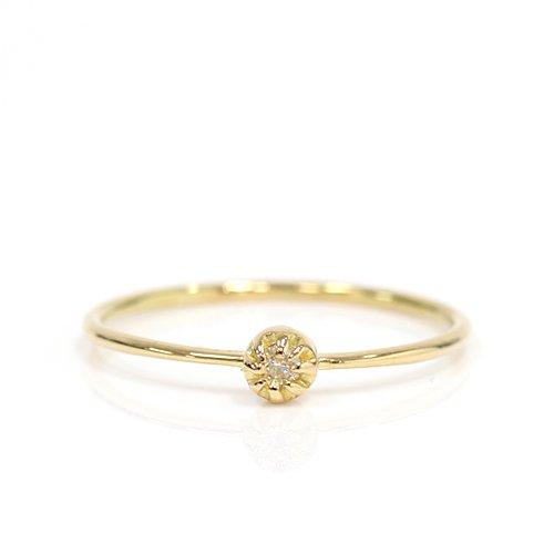 【廃番商品】hirondelle et pepin(イロンデールエペパン) / k18 hr-436 ssシャトン リング - ダイヤモンド