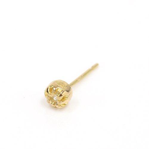 【廃番商品】hirondelle et pepin(イロンデールエペパン) / k18 hp-469 ssシャトン ピアス/ダイヤモンド (片耳タイプ)