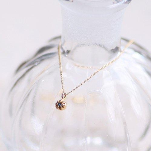 【廃番商品】hirondelle et pepin(イロンデールエペパン) / k18 hn-438 ssシャトン ネックレス - サファイヤ