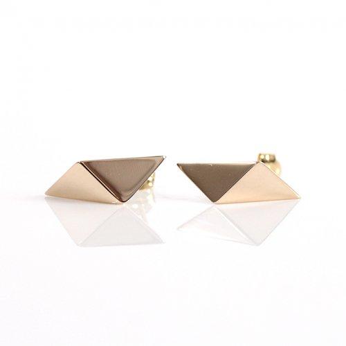 uM(ユーム) / um-fmP01_10YG k10 folding metal ピアス - ゴールド