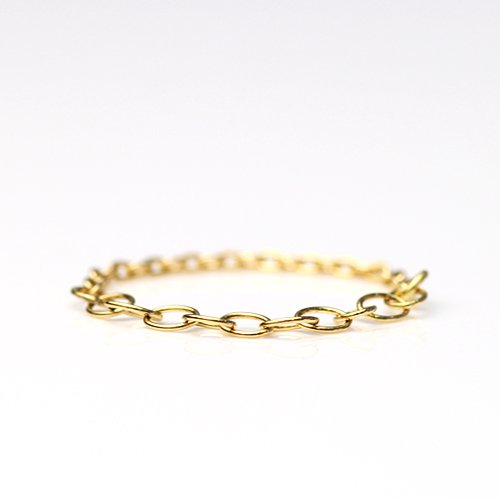 MINIMUMNUTS(ミニマムナッツ) / k18  tiny necklace リング - ハーフ