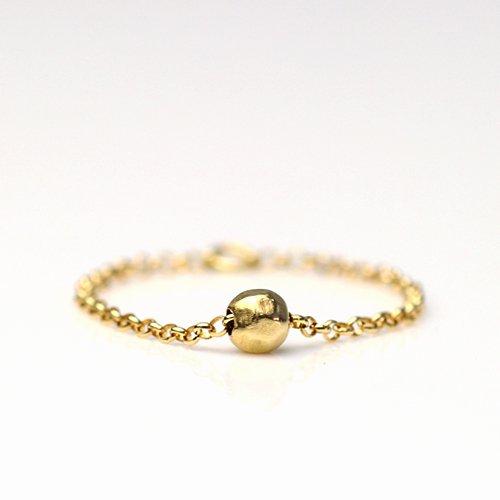MINIMUMNUTS(ミニマムナッツ) / k18  tiny necklace リング - ボール