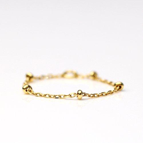 MINIMUMNUTS(ミニマムナッツ) / k18  tiny necklace リング - ステーション