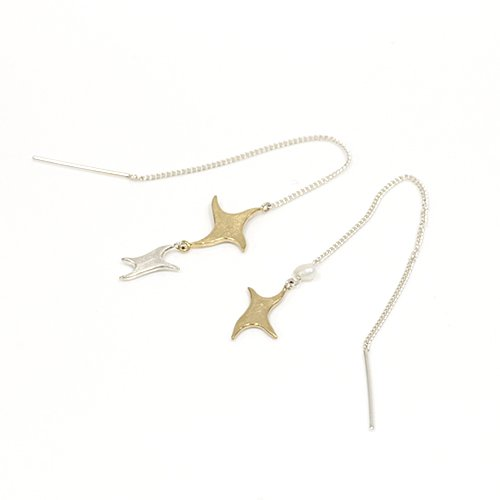 【廃番商品】moca.arpeggio(モカ アルペジオ) / shooting star ピアス (片耳タイプ)
