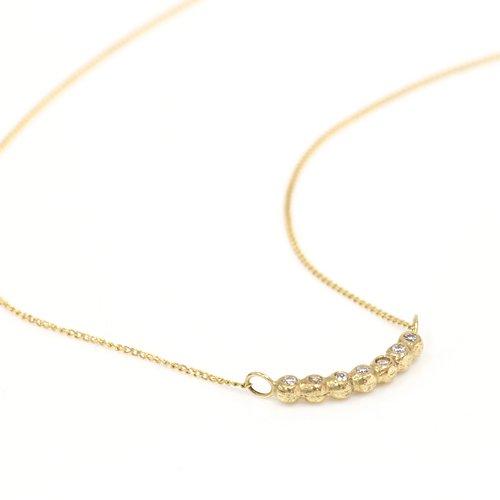 【廃番商品】Perche?(ペルケ) / k18 tsubutsubu ダイヤモンド ネックレス