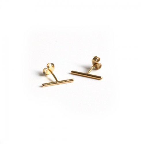 hirondelle et pepin(イロンデールエペパン) / k18 hp-474 ライン ピアス(両耳タイプ)