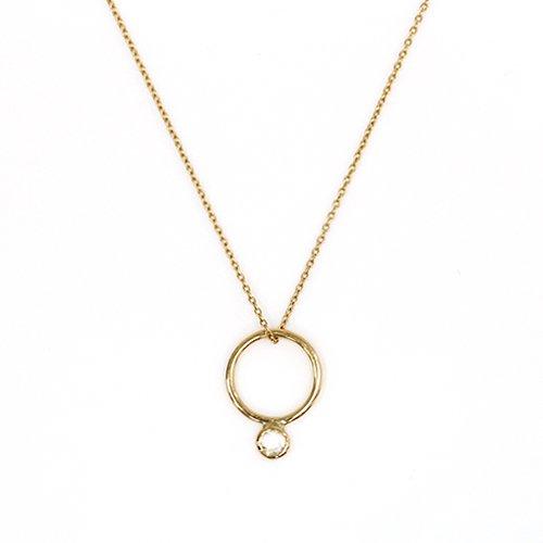 hirondelle et pepin(イロンデールエペパン) / k18 hn-444 ルーペ  ローズカットダイヤ ネックレス