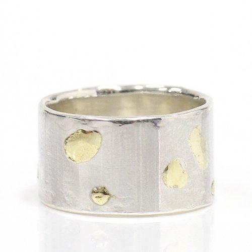 【廃番商品】hirondelle et pepin(イロンデールエペパン) / k18  Silver sr-02 プレートリング 02 M