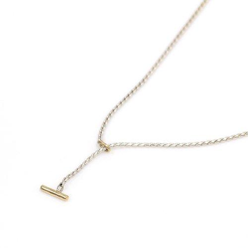 【廃番商品】hirondelle et pepin(イロンデールエペパン) / k18 silver sn-08 スネークチェーン ロングネックレス S