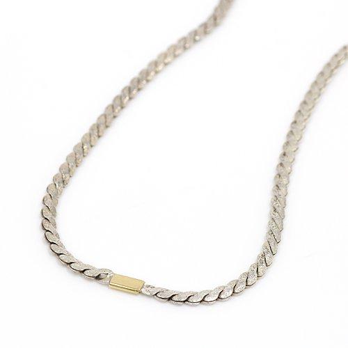 【廃番商品】hirondelle et pepin(イロンデールエペパン) / k18 silver sn-09 スネークチェーン ロングネックレス M